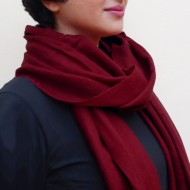 Pashmina sjaal, bordeauxrood