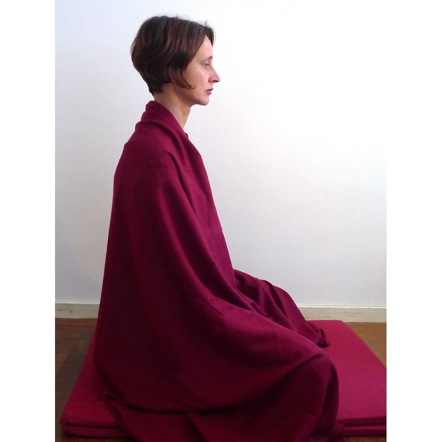 Pashmina omslagdoek, bordeauxrood
